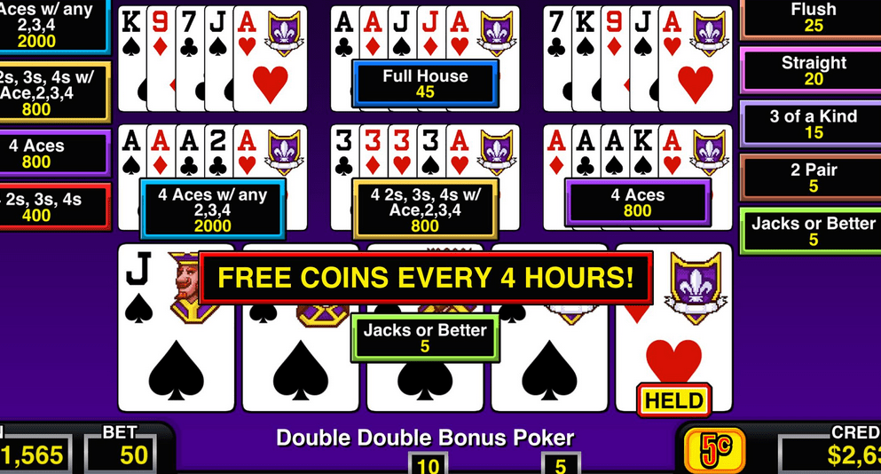 Free Video Poker Games Gambling Reality At The Screen Of Your