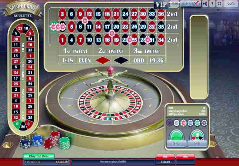 Salon Prive Roulette casino game
